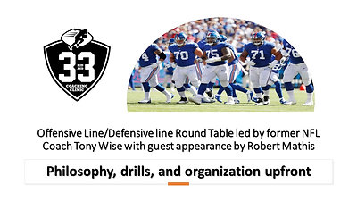 O-Line/D-Line Round Table - Philosophy, drills, and organization upfront