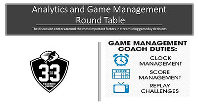 Analytics and Game Management Round Table