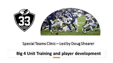 Special Teams - Big 4 Unit Training