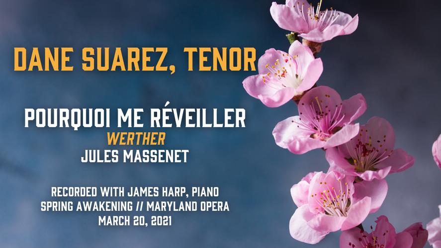 """""""Pourquoi me réveiller"""" from Werther (Massenet) - Dane Suarez, tenor"""