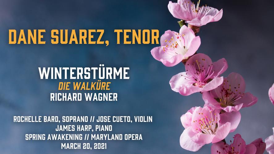 """""""Winterstürme wichen dem Wonnemond"""" from Die Walküre (Wagner) - Dane Suarez, tenor"""