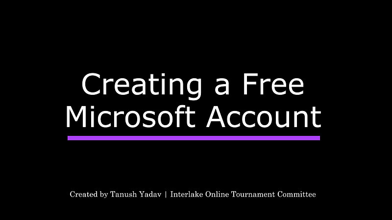 Creating A Microsoft Account
