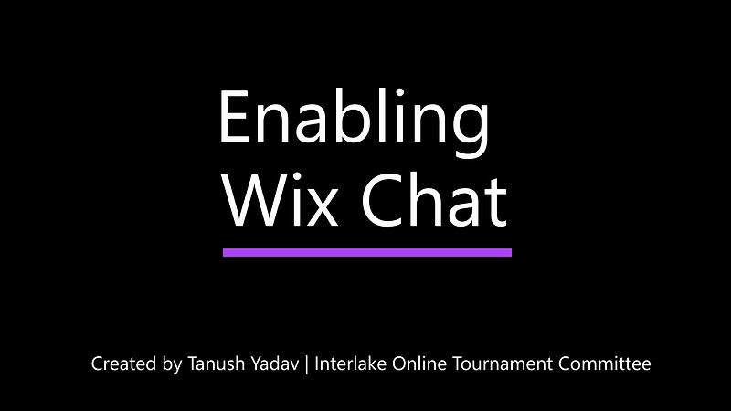 Enabling Wix Chat