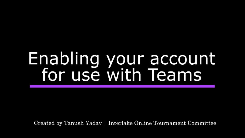 Enabling Teams Use