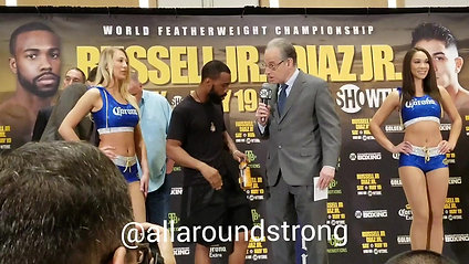 Russell vs Diaz Press Weigh-ins