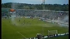 Autentické záběry z tribuny - Boby Brno - SK Slavia Praha