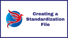 3. Blue Scan - Creating a Standardization File