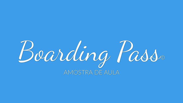 Boarding Pass Amostra de Aula