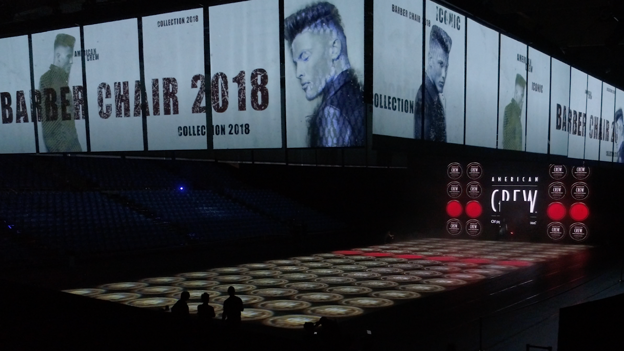 American Crew Stylemasters 2018 - Projection Mapping