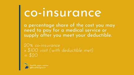 Glossary: Co-insurance