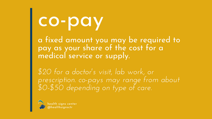 Glossary: Co-pay