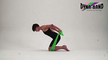 Triceps pull back - kneeling