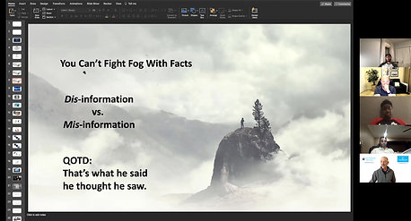 You Can't Fight Fog With Facts