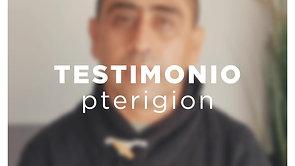 Testimonio pterigion