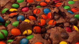 Brownie de M&M
