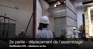 1-hour fire assembly test (ASTM E119)