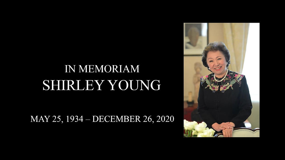 Shirley Young Memorial Service Recording - Jan 9, 2021