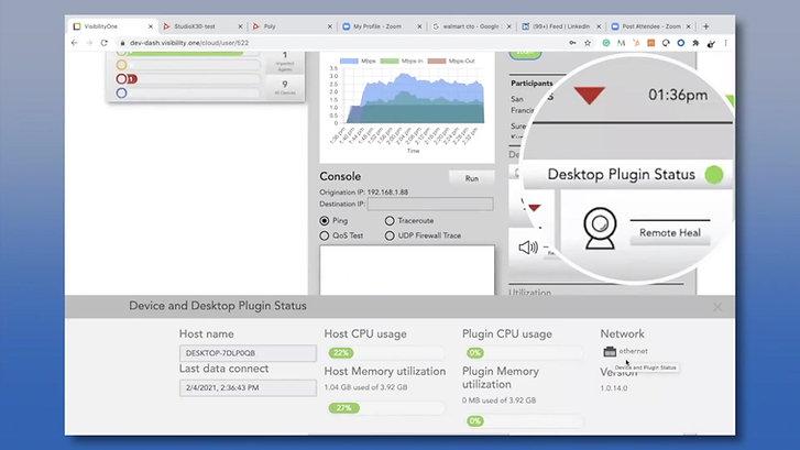 VisibilityOne Zoom User Desktop Monitoring