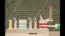 Lego Toothbrush Holder ( lego stop motion )
