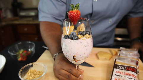 Red White & Blue Parfait with Chef Jerneard