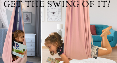 Sensory swing indoors fun