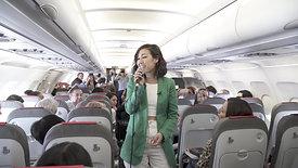 Presentación disco de Nella Rojas en un vuelo Iberia Madrid - Lisboa