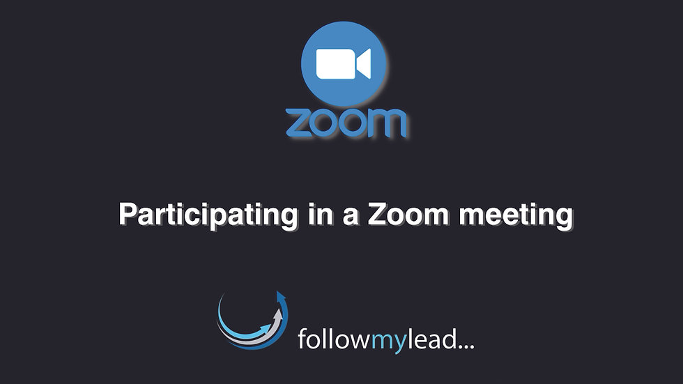 Participating in a Zoom call