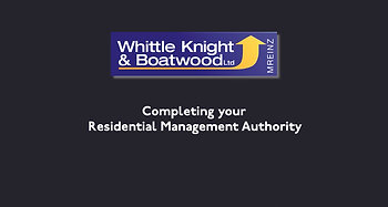 Completing your Whittle Knight and Boatwood Residential Management Authority
