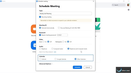 Scheduling a Zoom meeting