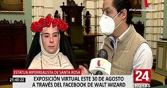 Santa Rosa de Lima- Estatua hiperrealista nos muestra como era físicamente