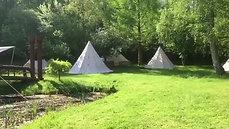 Overnatning i telte på Borgdal