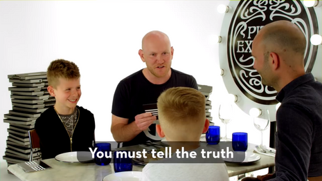 Dads and their kids play 'Never Have I Ever'