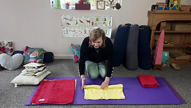 Montessori in the home  Towel Rolling and Folding