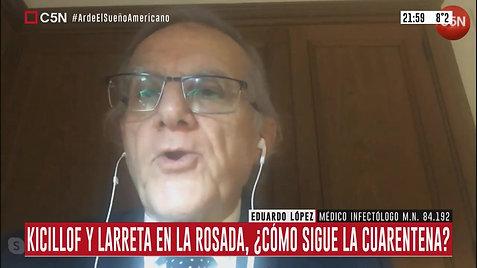 Dr Lopez, infectólogo, habla sobre la cuarentena