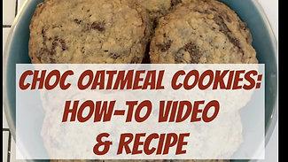 Choc Oatmeal Cookies