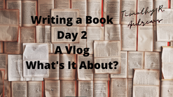 Timothy R Andrews writing a book vlog day 2