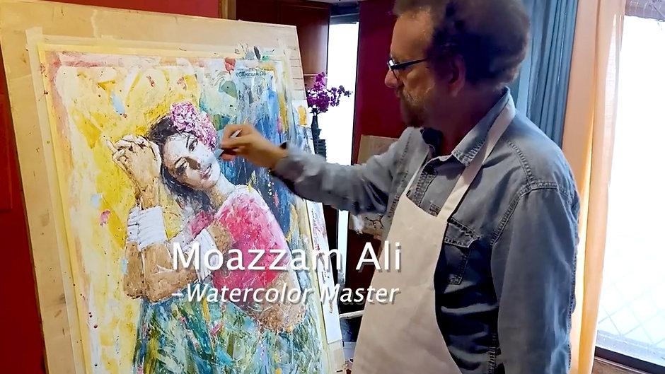 Watercolor Painting Demonstration - Watercolor Master Moazzam Ali
