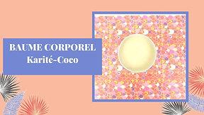 Baume coporel karité coco