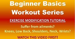 Beginner Tutorial: Exercise Modifications (70) -16:40