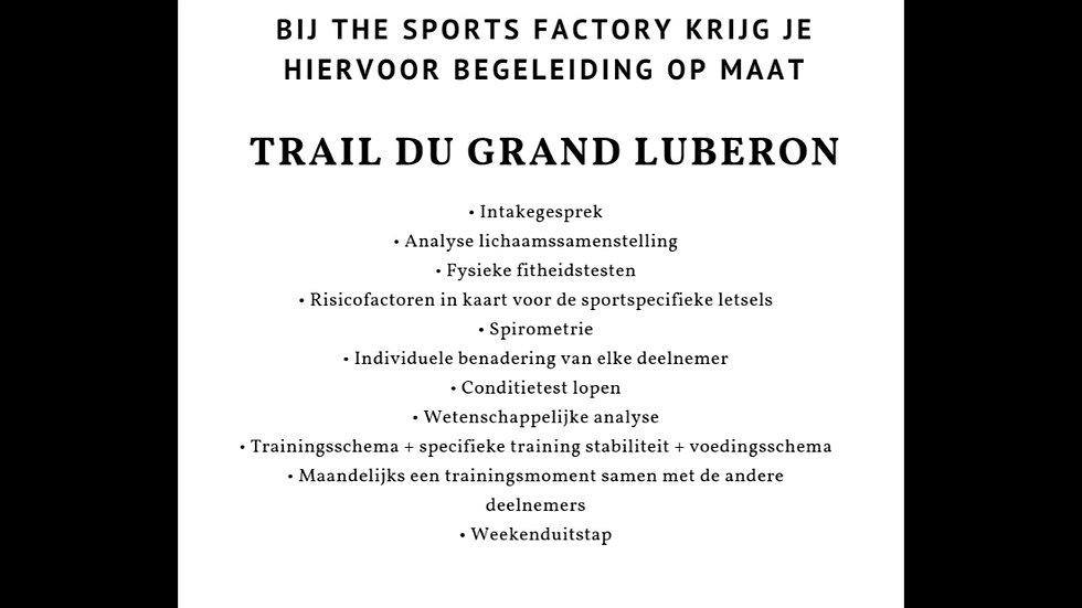 trail Luberon 2019 - Begeleiding