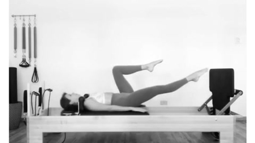 Jumping on Reformer - Supine Position