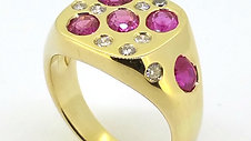 Ruby and Diamond Signet Ring
