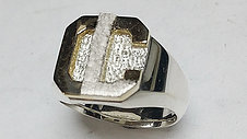 Mens Inital Signet Ring