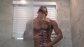 Jay's chocolate sauce shower!