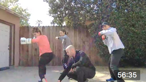 Backyard Boxing Workout with The Marshalls