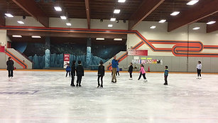 Acceleration of speed in two foot spin, Recreational Skater Seminar, Scarborough, Canada