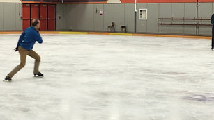 Rocker turn technique, Senior Skater, Scarborough Skating Club, Canada