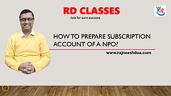 How to Prepare Subscription Account of Non-Profit Organizations