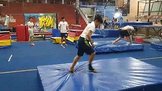 Tae-In's cartwheel frontflip
