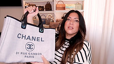 CHANEL DEAUVILLE TOTE BAG UNBOXING | Naomi Peris